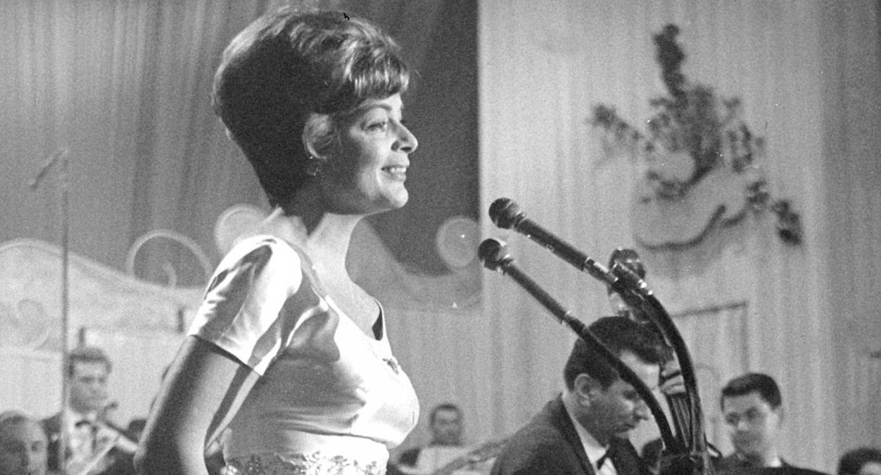 Zeitungsbericht von 1956: Lys Assia gewann mit 102 Punkten